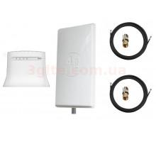 Комплект 3G/4G WiFi роутер ZTE MF283U и антенна 4G LTE MIMO панельная 2*24 dbi (Logo 4G LTE)