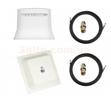 Комплект 3G/4G WiFi роутер ZTE MF283U и LTE MIMO антенна панельная RNet 1700-2700 МГц 15 ДБи