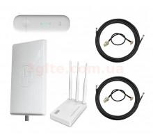 3G/4G Wi-Fi LTE роутер ZTE MF79 + Антенний комплект MIMO 2 x 24 dBi +маршрутизатор Netis MW5230