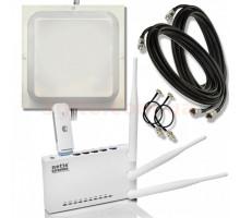 Huawei E3372h-607+роутер Netis MW5230+антенна MIMO 15 дб+кабель 10м+адаптер CRC9