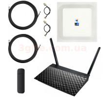Готовый 4G WiFi интернет комплект Домашний MIMO для сельской местности (Интернет под ключ)
